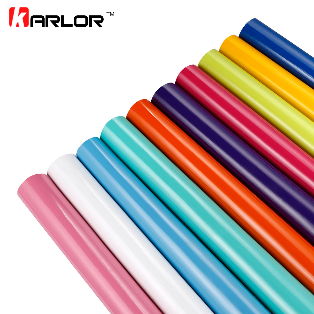 Car-Styling 30x100cm Bright Glossy Vinyl Film Auto Car Stickers Decal Waterproof Shiny Gloss Car Motorcycle Truck Wrapping Foil