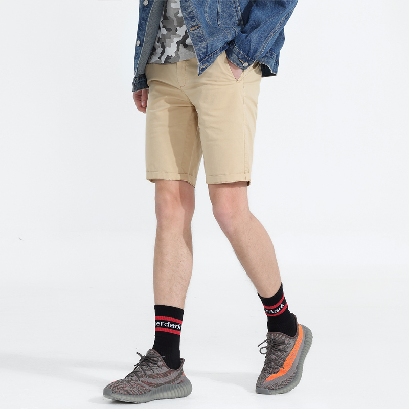 New Casual Slim Shorts Men Bermuda Masculina Male Work Shorts Knee-length Man Military Cotton Short Pants Pantalon Corto Hombre