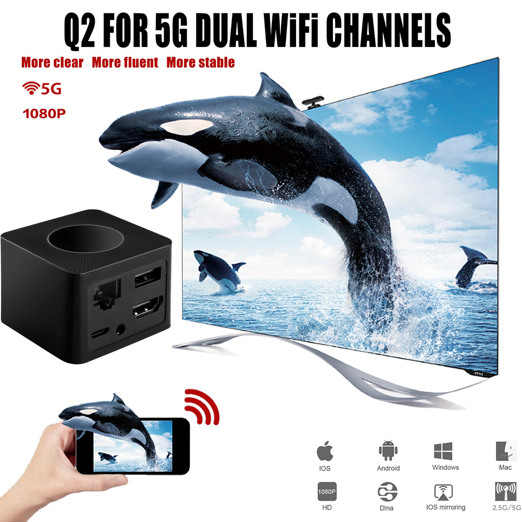 1080 P Wifi Draadloze Mini Display Ontvanger Dongle Hdmi Adapter Tv Miracast Dlna Airplay Voor Smartphone Monitor, Projector