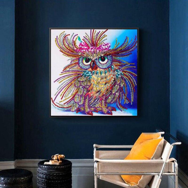 30x30CM Special Shape 5D DIY Diamond Painting Owl Embroidery Animals Cross Stitch Rhinestones Mosaic Beadwork Home Decor
