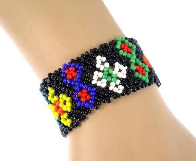 Nepal Handmade Bead Bracelet Hippy Friendship Por Roll Crochet Woven Seed Beads Pattern Bracelets For Women