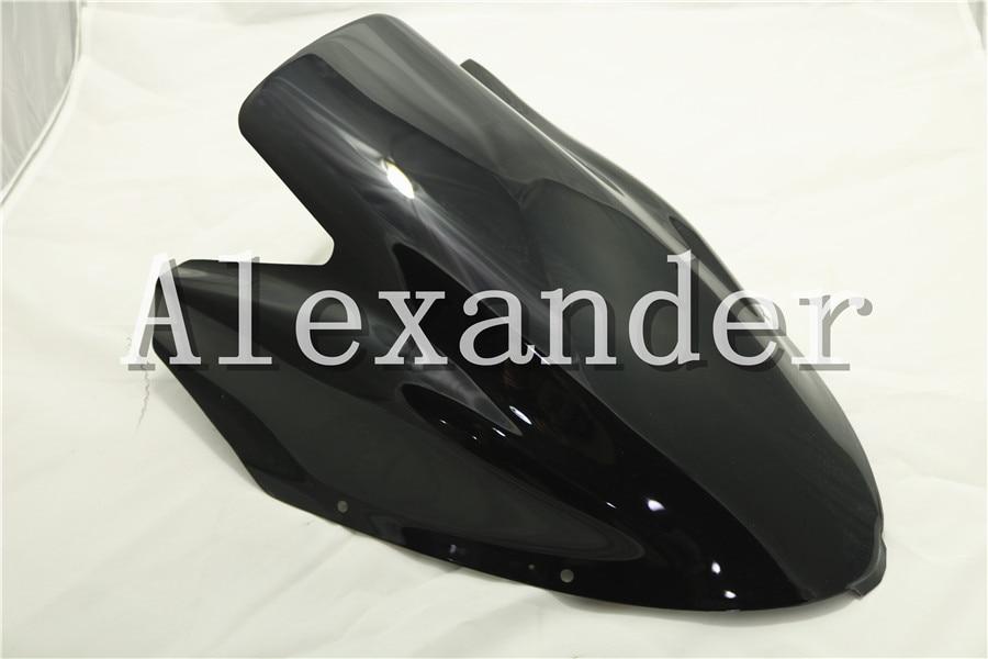 HotSale For Kawasaki NINJA 650 ER6F EX650R 2006 2007 2008 black Windshield WindScreen Double Bubble ER