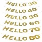 Glitter Gold Hello 3...