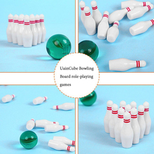 UainCube Bowling Sports Toys 10 + 1 Glass Ball Table Mini Desktop Game for Children/Kids Funny Gift HYT0324
