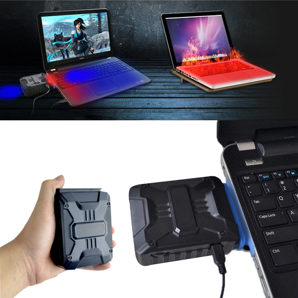 Mini di Vuoto USB Laptop Cooler di Scarico D'aria Che Estrae Ventola di Raffreddamento CPU Cooler per Notebook Laptop PC Computer Hardware di Raffreddamento