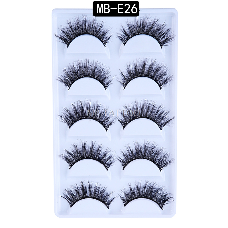 HTB1t6oPQ5rpK1RjSZFhq6xSdXXay New 3D 5 Pairs Mink Eyelashes extension make up natural Long false eyelashes fake eye Lashes mink Makeup wholesale Lashes