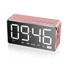 лучшая цена EAAGD LED Digital Alarm Clock with Bluetooth Speaker and FM Radio,Stereo Sound Speaker Built-in TF Card,LED Nightstand Clock