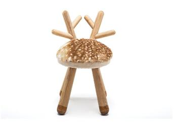 Quality Deer stool Nordic style solid wood children's gifts bench stool baby chair home animal stool american style dressing stool solid wood leather pedal simple bed end stool continental long shoe bench bedroom makeup stool