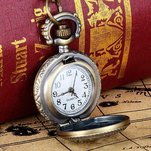 2018 Vintage Bronze Tone Spider Web Design Chain Pendant Men's Pocket Watch Gift Male Durable relogio de bolso Shipping Free A65