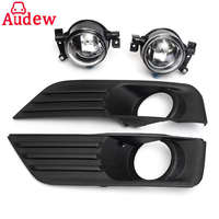 2Pcs Car Bumper Front Fog Lights Lamp Day Running Light Cover Grille Kit Set For Ford