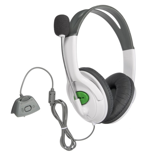 LEORY Professional Studio Headphones With Mic Gaming Headset For Xbox 360 Live High Performance 30