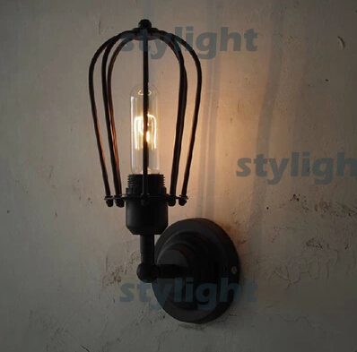 loft pomelo wall LAMP metal case wall light industry style lamp restaurant coffee bar living room dinning room lighting loft american edison vintage industry crystal glass box wall lamp cafe bar coffee shop hall store club