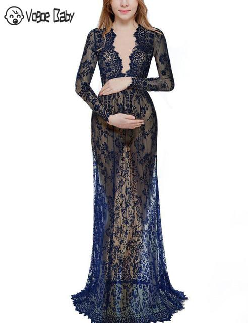 Maternity Gown Lace Dresses for Summer 5