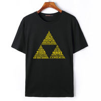 De Legende van Zelda Mannen t-shirt Mode Katoen O-hals Korte mouwen Man Top Tee 2018 Zomer Nieuwe Mens merk Kleding