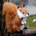 Simulation squirrel doll cute plush toys June 1 children's day gifts creative girls Christmas gift