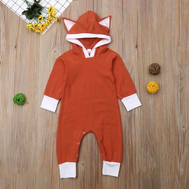 45a4efb7e Aliexpress.com   Buy Baby Ear Hooded Jumpsuit Long Sleeve Cotton ...