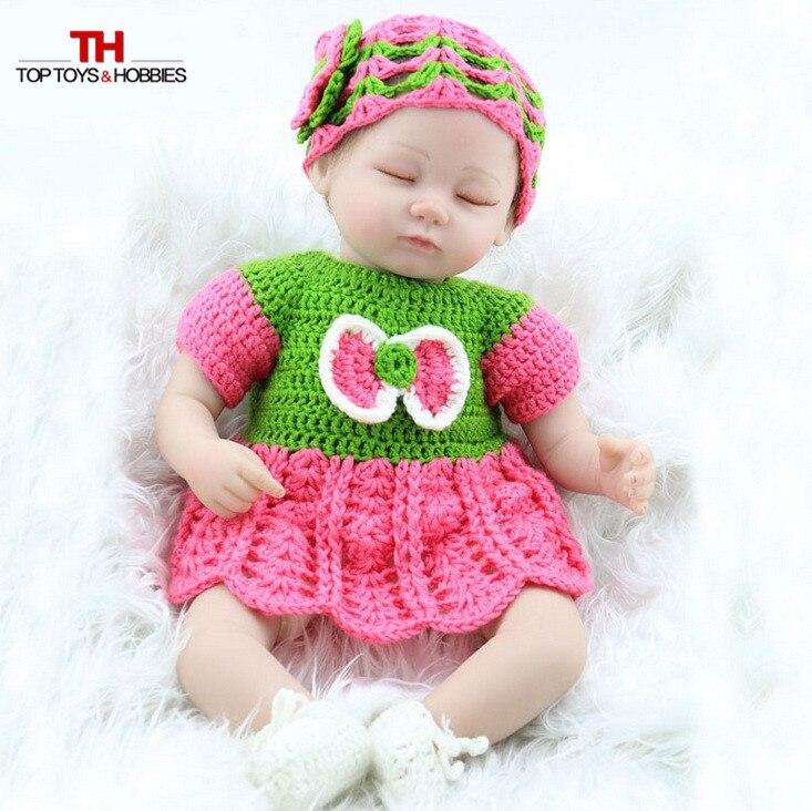 18 inch Soft Silicone Adora Lifelike Reborn Dolls Bonecas Baby Reborn Realistic bebe doll for girls Kids Gift