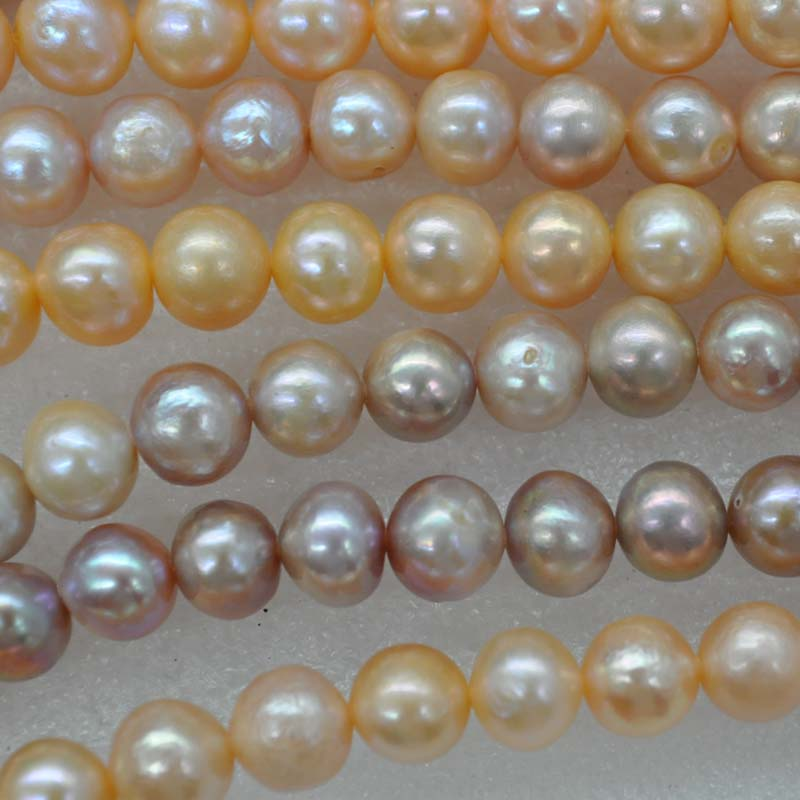 New wholesale 10 strands 8mm near round natural color pearl strings mix lots