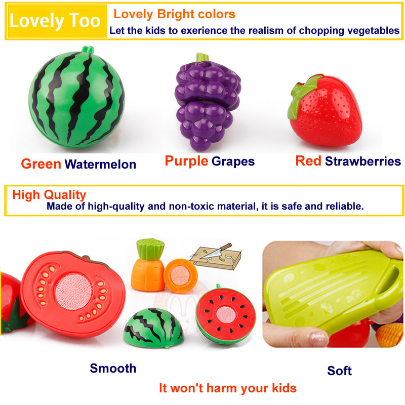 lovely too kids vegetable cutting toys cut fruit games pretand play kit kat kid s kitchen miniature food game for girls and boys in kitchen toys from toys