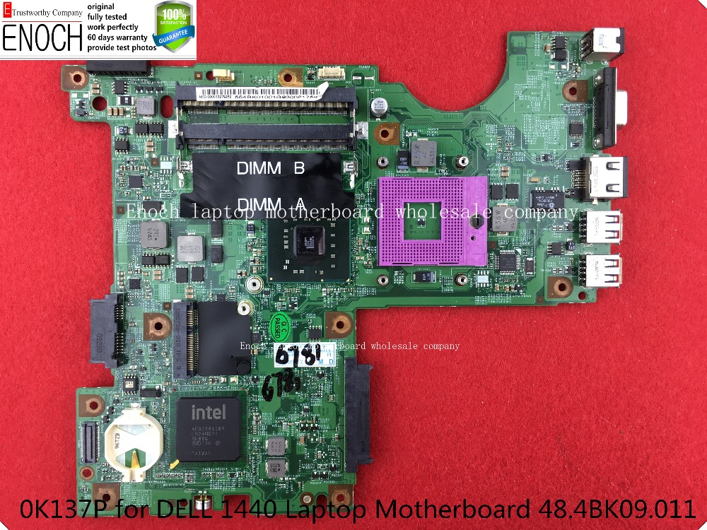0K137P for DELL 1440 Laptop Motherboard intel HD graphic Integrated 48.4BK09.011 store No.115