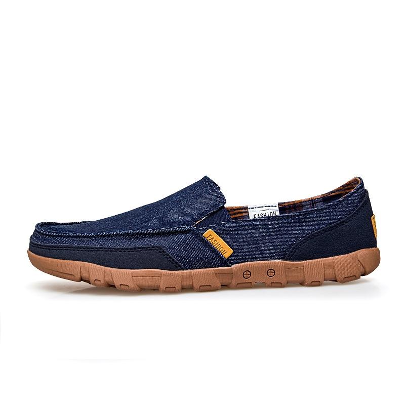Mocassins Respirant Hommes Homme De Sneakers Slip Krasovki Nouveau Bleu Plus Taille Chaussures Offre Denim gris Décontractées Spéciale Surom kaki Sur Grande Toile Pour WEIYD2H9