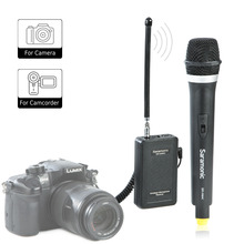 Saramonic WM4CA Professional Portable Wireless VHF Handheld Microphone System for DSLR Camera / Video Camcorder takstar ts 331a vhf wireless microphone vhf wireless system for live performances conference musical and opera