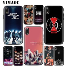 YIMAOC TEMPO EXO New Soft TPU Black Silicone Case for iPhone X or 10 8 7 6 6S Plus 5 5S SE Xr Xs Max(China)