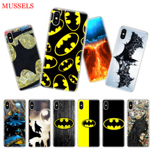 Batman Superhero Back Cover Phone Case For iPhone 11 Pro XR XS MAX 7 8 6 6S Plus X 10 Ten 5 5S SE Soft Shell Coque