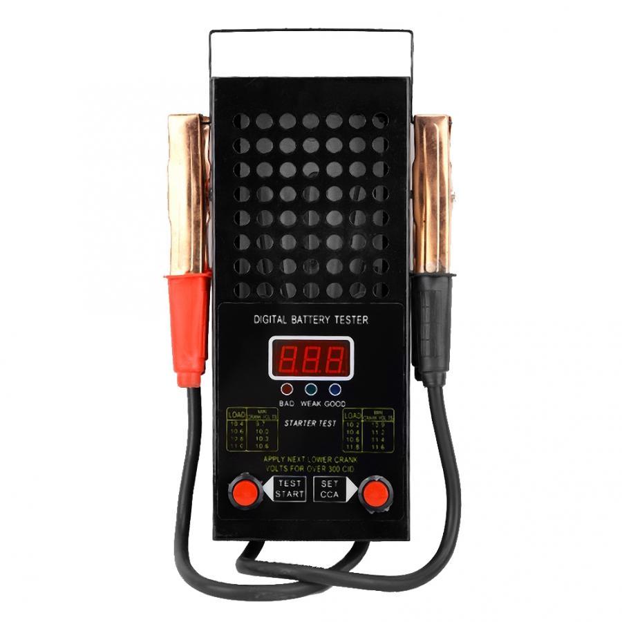 Battery Tester 6-12V Car Motorcycle Battery Tester Alternator Battery Analyzer Detector with Lights