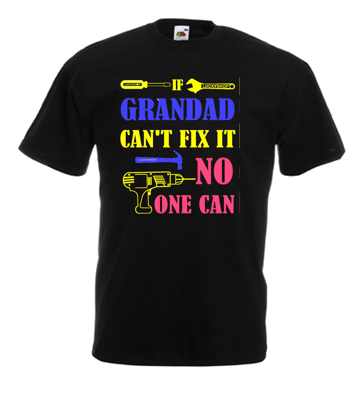 If Grandad Cant Fix It No One Can T Shirt Fathers day gift Design Style New Fashion Short Sleeve shirts