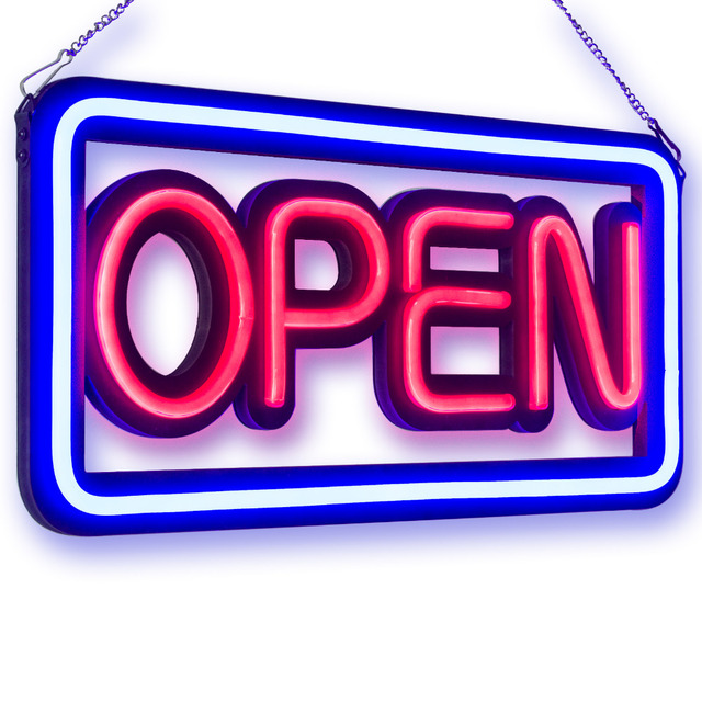 Shop Open Sign Lights: 50CM Bright Neon Open Signs For Shop Bar Coffee Spa Salon