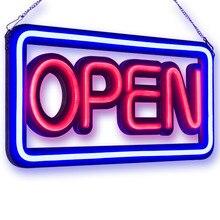 OPEN LED Neon Licht Zeichen, 50 cm, NEON ROHR STIL ÖFFNEN ZEICHEN, RB Brief Fenster Anzeige Licht, Bar, Restaurant, Shop, Salon