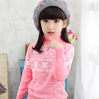 New Girl Sweater Cardigan Winter Spring Autumn Cotton Knitting Top Cute Pullover Fashion Bow Design Girls