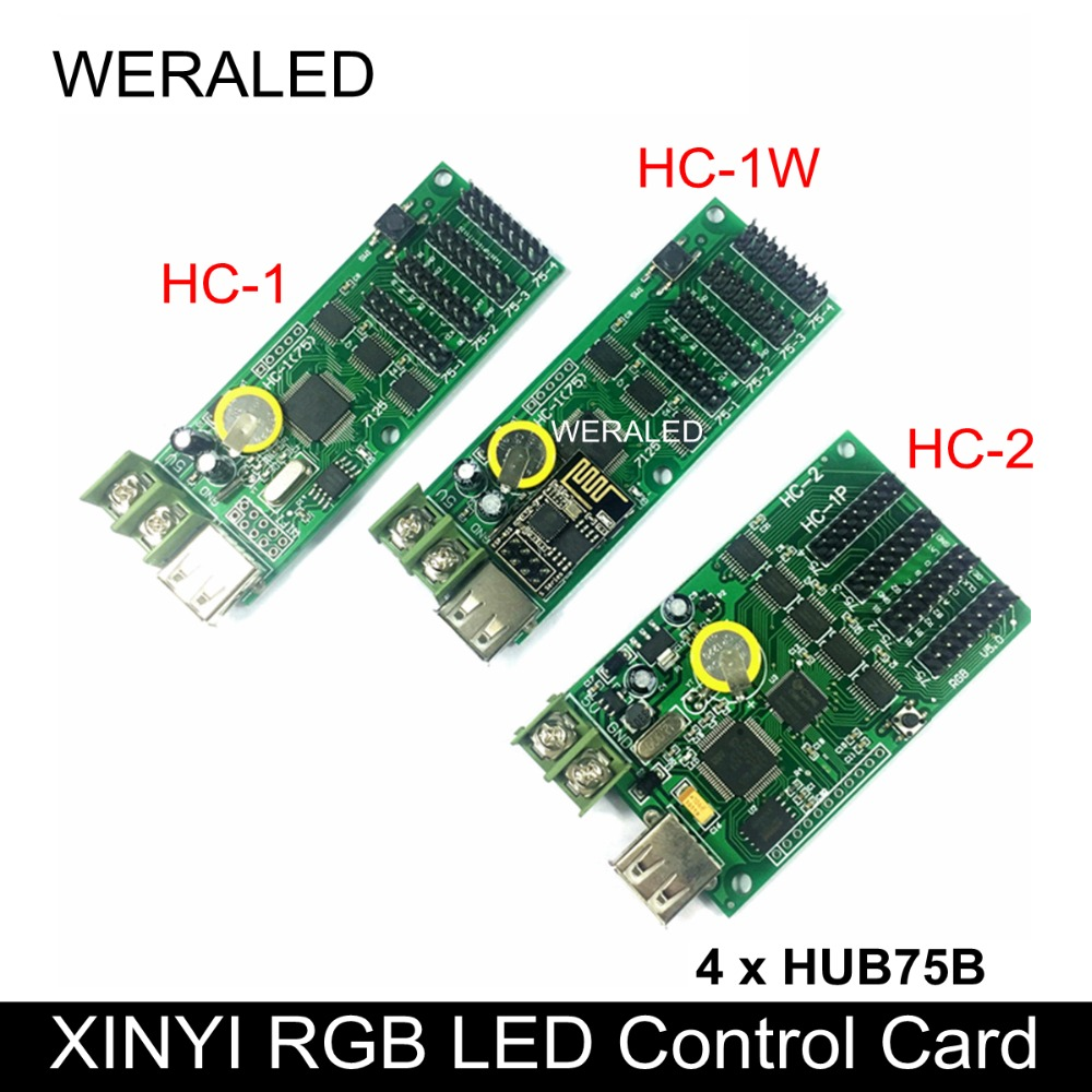 WERALED Cheapest XINYI RGB LED Control Card HC-1 HC-1W(support Android App Only) ,HC-2 Support Short Video Display