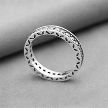 Compatible con Europa joyería de plata esterlina 925 Aro blanco cúbico de piedra zirconia incrustaciones modelos femeninos anillos de DIY que hace