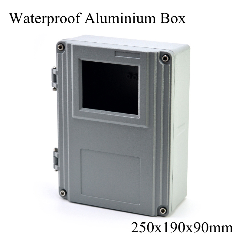 FA15 1 250x190x90mm Aluminum Waterporrf Enclosure Sealed Project Electrical Wire Junction Case Distribution Box 250 190