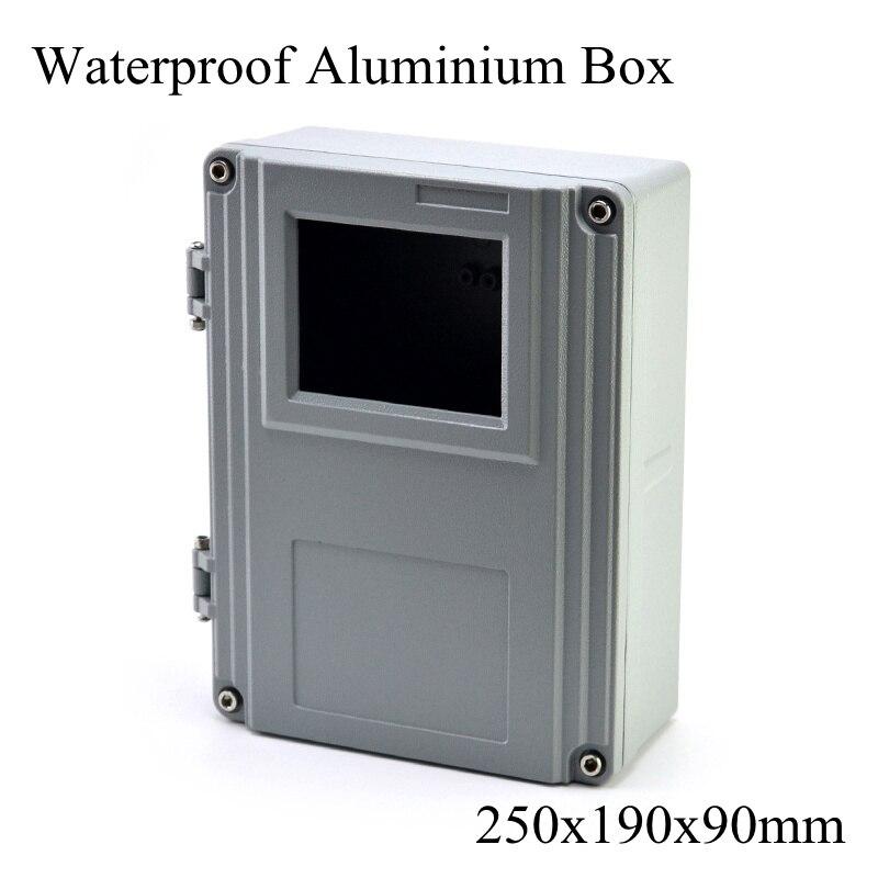 FA15-1 250x190x90mm en aluminium Waterporrf boîtier scellé projet électrique boîtier de jonction boîtier de Distribution 250*190*90mm