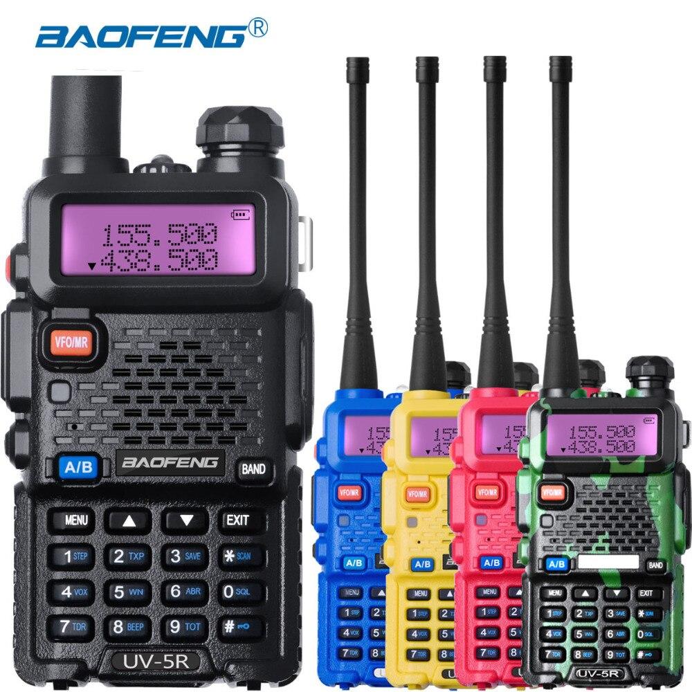 Baofeng UV 5r Radio Station uv5r Walkie Talkie UHF VHF Powerful uv 5r walky talky FM 128CH VOX Ham Radio for Hunting Radios Sets