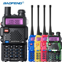 Baofeng UV 5R Walkie Talkie Dual Band UHF VHF UV5R CB Radio FM 128CH VOX Ham