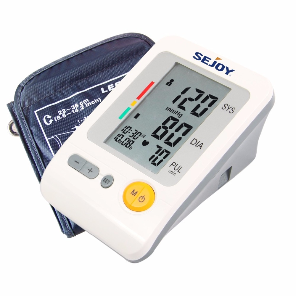 UP Arm Type Large LCD Digital Blood Pressure Monitor With AC Adapter IHD Four Group Memory Health Care Family or Medical BPM