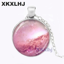 XKXLHJ Thors Helmet Nebula Necklace Galaxy Astronomy Pendant Solar System Jewelry Space Universe Milky Way Jewellery