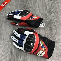 2019 moto gp Furygan RG19 Gloves Short Motorcycle Leather Gloves Carbon Fiber Racing Ride Anti Slip Breathable