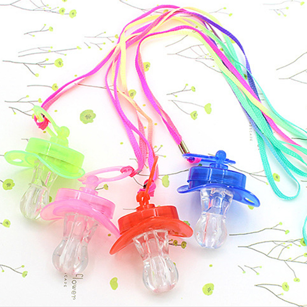 Bar Pacifier Fun Toy Survival Kit Glow Stick Colourful Light Rave Party Nipple