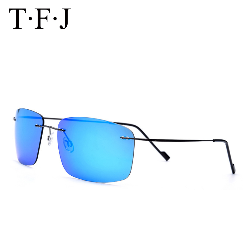 TFJ 2017 polarized Mens sunglasses Titanium frame car driving sunglasses men sports for fishing golf Goggles Eyewear de sol