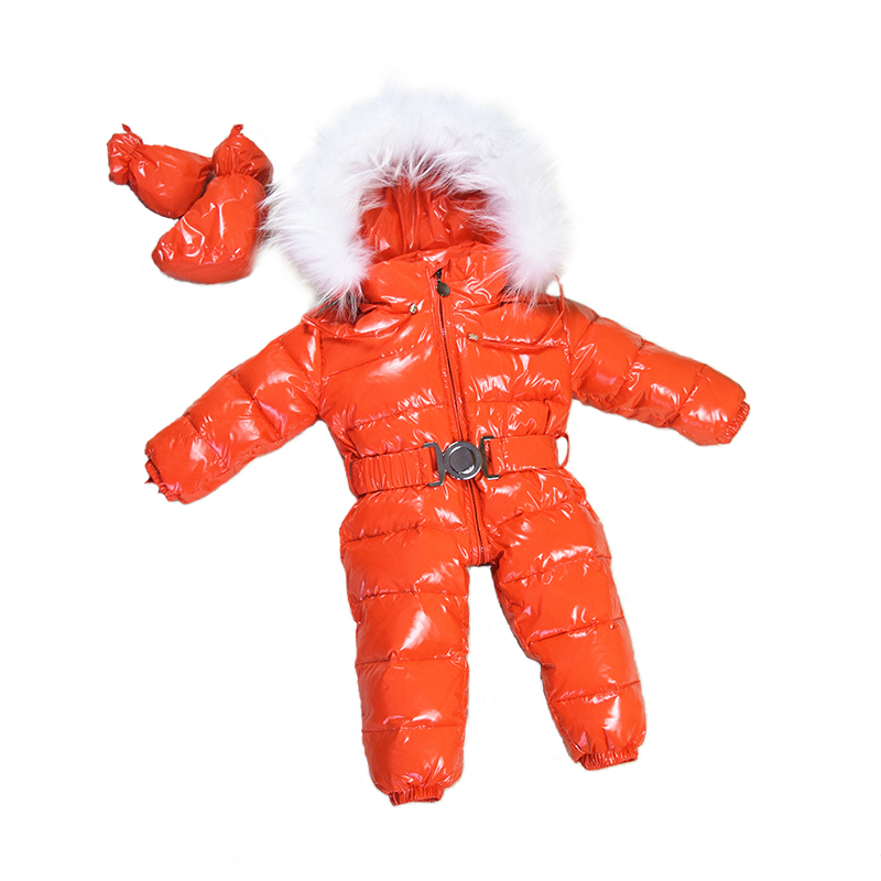 Baby Snowsuits Hooded Jumpsuit White Duck Down Jackets For Boys Girls Winter Snow Coats Kids Clothes Infantil Thicken Rompers baby snowsuits jumpsuit russia winter clothing warm coats snow wear down jacket for boys girls kids clothes infantil rompers