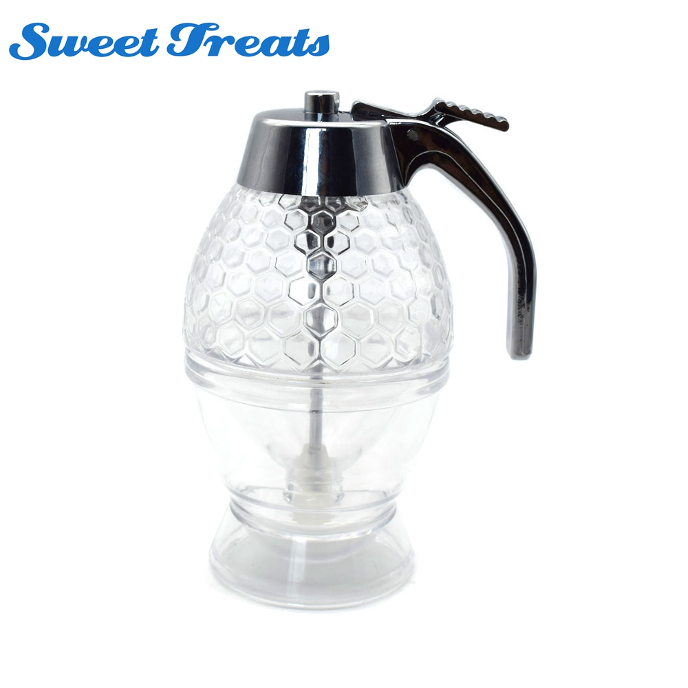 Sweettreats Portable Honey Dispenser Jar Container Acrylic