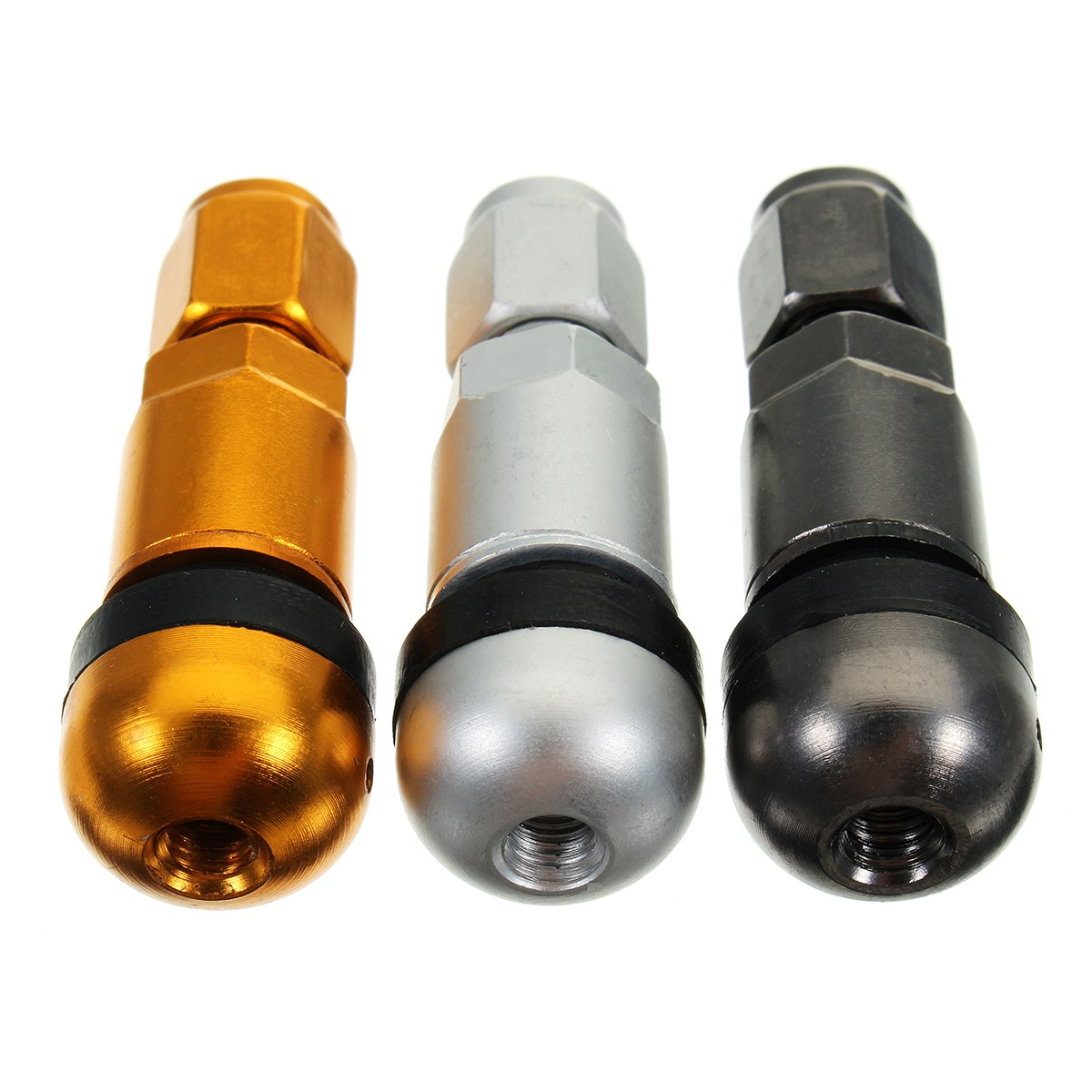 4pcs/set Car Universal Tubeless Tyre Valve Stem Caps Motorcycle Wheel Tire Air Valve Stem Aluminum Metal