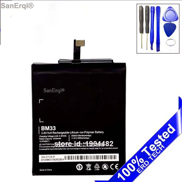 SanErqi Batterie BM33 Pour Xiaomi 4i M4i mi4i Smart téléphone Bateria 3030 mAh Batterij Batterie Bateria