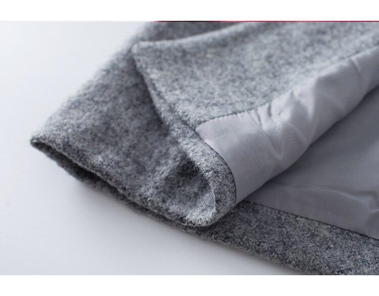 Slim Mode Gray orange 2018 Collar Solide Outwear Manteaux Turn Mélanges D'hiver Laine down De Élégant Manteau Femmes Menbone Dames Long R7wU4R