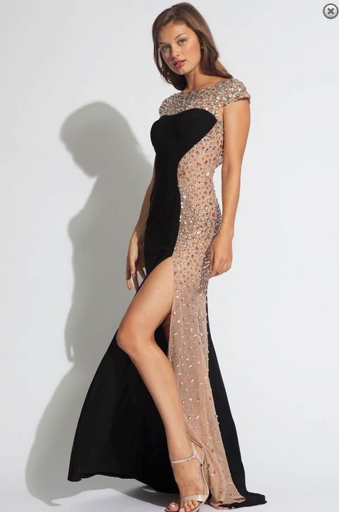 2014 New Arrival Hot Sale Sexy Split Side Scoop Long Chiffon Girls Party  Prom Dresses Open Back Rhinestone Crystal Gowns Dress-in Prom Dresses from  Weddings ... 13027f920b2c